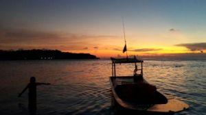 Sunset di Pulau Dolphin