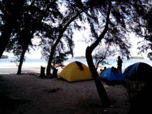 View dari belakang tenda