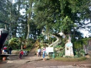 Pintu masuk Bukit Cinta Rawa Pening, terdapat patung naga yang melingkari bukit tersebut, namun baru jadi di bagian kepala dan ekor saja.