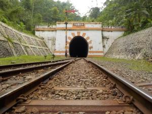 Terowongan Lampegan, yang konon agak horor karena waktu pembuatannya menelan korban.