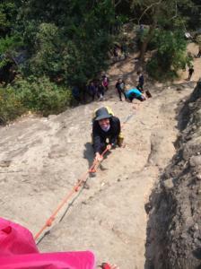 Climbing menuju puncak pertama